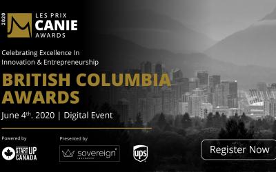 La Fondation des innovateurs et entrepreneurs est ravie de reconnaître et de célébrer les lauréats des prix CANIE de la région de la Colombie-Britannique