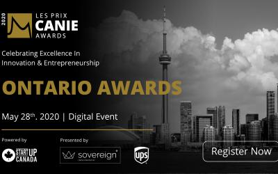 La Fondation des innovateurs et entrepreneurs annonce les lauréats des prix CANIE de la région de l'Ontario